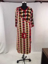 New Rayon Printed Winter Wear Kurti