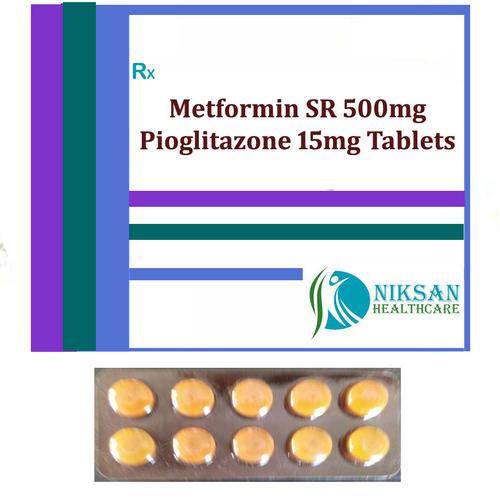 Metformin Sr 500Mg Pioglitazone 15Mg Tablets