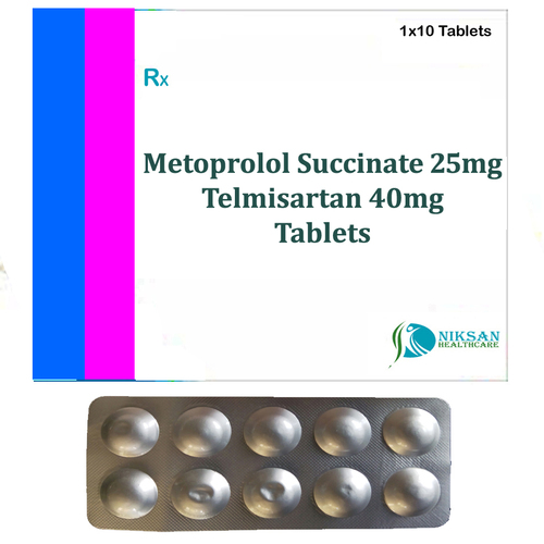 Metoprolol Succinate 25Mg Telmisartan 40Mg Tablets