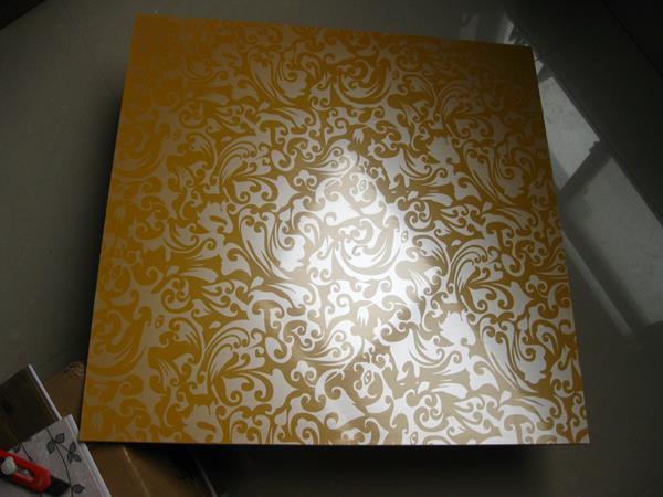 LONSTRONG Golden color Suspended PVC Roofing Tiles