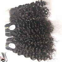 Indian Curly Human Hairs Extension
