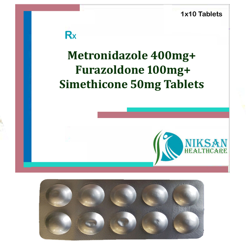 Metronidazole 400Mg Furazoldone Simethicone Tablets