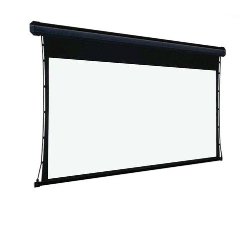 Ambient Light Rejecting Projection Screen Black Crystal Tab Tension Motorized Screen 16:9 100