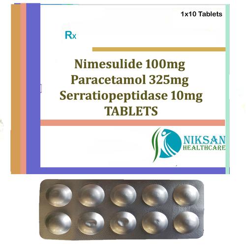 Nimesulide Paracetamol Serratiopeptidase Tablets