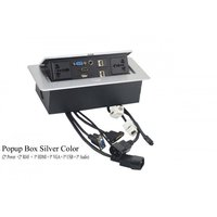 Popup Box & Cable Cubby In Silver Color
