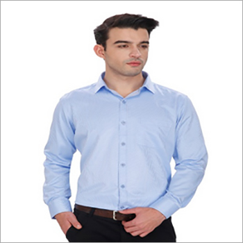 Mens Blue Formal Shirt