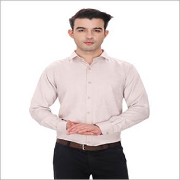 Mens Plain Slim Fit Formal Shirt