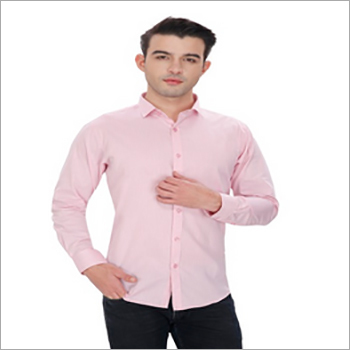 Mens Pink Slim Fit Formal Shirt
