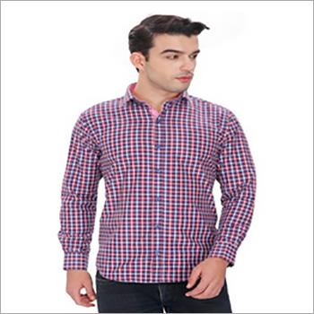 Mens Small Check Formal Shirt