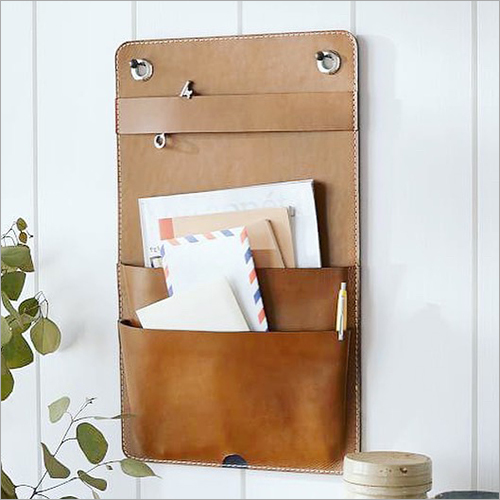 Leather Wall Hanging Organizer