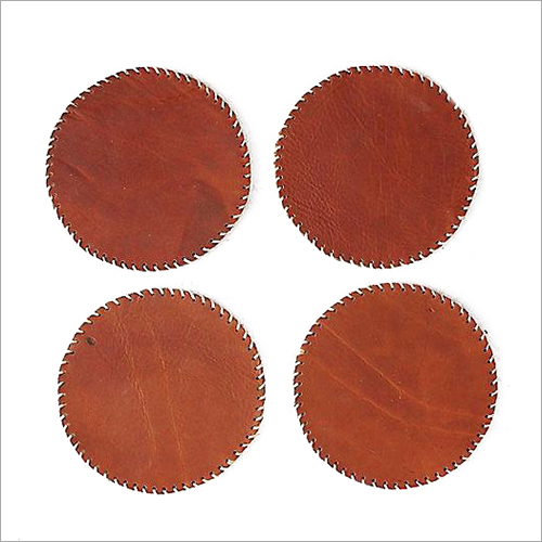 Brown Leather Coaster
