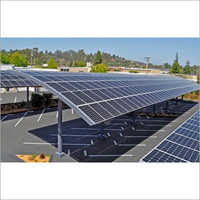 Car Port Mounted Solar Panel Structure