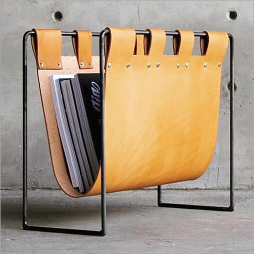 Leather And Iron Sling Magazine Holder