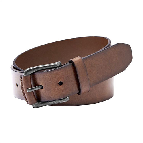 Single Pin Brown Leather Belt