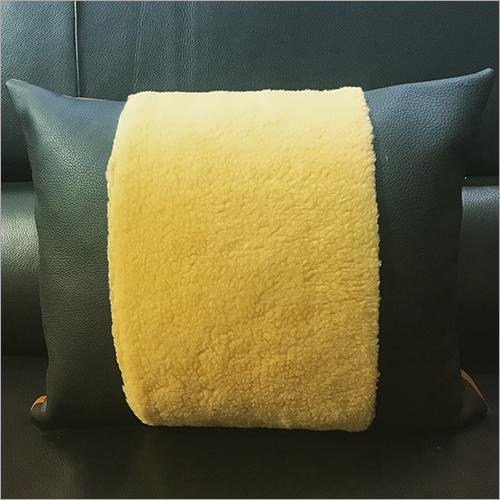 Designer Leather Cushion Cover