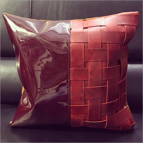 Casual Leather Cushion Cover