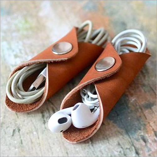 Pure Leather Earphone Holder