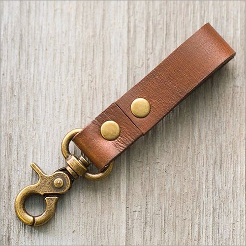 Brown Leather Loop Keyring