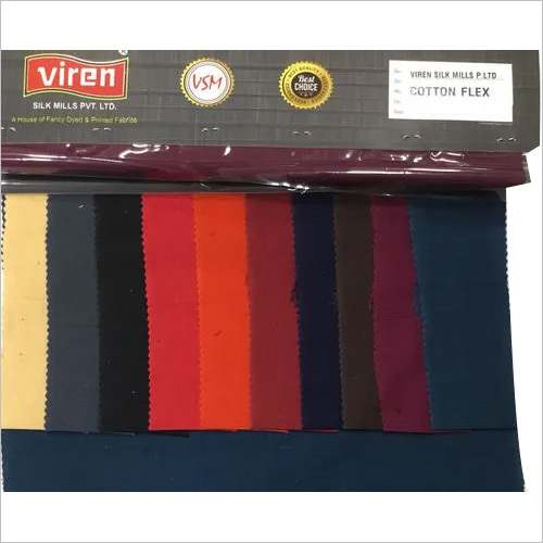 Plain Cotton Flex Fabric