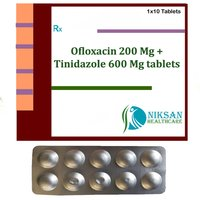 Ofloxacin 200 Mg Tinidazole 600 Mg Tablets