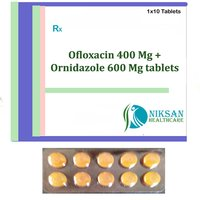 Ofloxacin 400 Mg Ornidazole 600 Mg Tablets