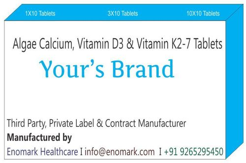 Algae Calcium Vitamin D3 Vitamin K2-7 Tablets