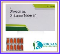 Ofloxacin 200 Mg Ornidazole 300 Mg Tablets