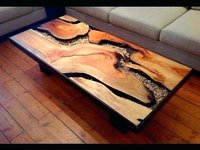 Resin clear table top