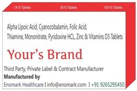 Alpha Lipoic acid Cyanocobalamin Folic acid Thiamine Mononitrate Pyridoxine Hcl Zinc & Vitamins D3 Tablets