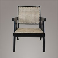 Pierre Jeanneret Teakwood Easy Chair in Ebony Finish