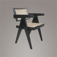 Pierre Jeanneret Teakwood Dining Chair in Ebony Finish