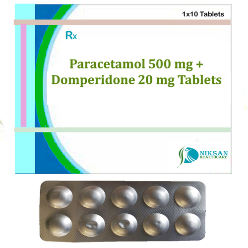 Paracetamol 500 Mg Domperidone 20 Mg Tablets