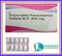Paracetamol Dispersible Tablets Bp 300Mg