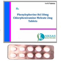 Phenylepherine Hcl Chlorpheniramine Meleate Tablets