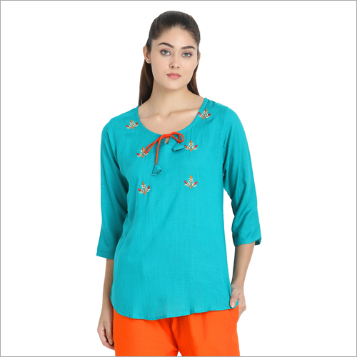 Rayon Embroidery Dori Top