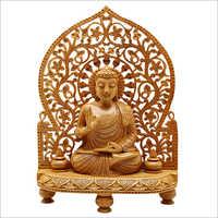 30cm Wooden Gautam Buddha