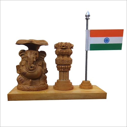 Wooden Decorative Ashok Pillar