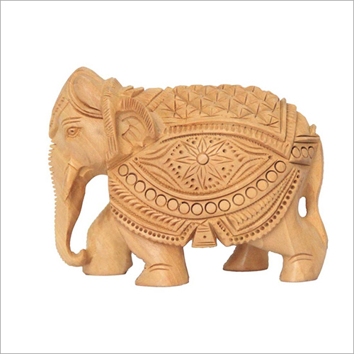 15cm Wooden Carved Elephant