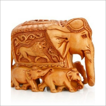 Handmade Wooden Carved Elephant