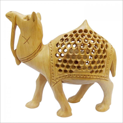Handcrafted Decorative Wooden Undercut Jali Camel