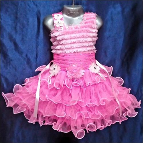 Girls Light Pink Frock