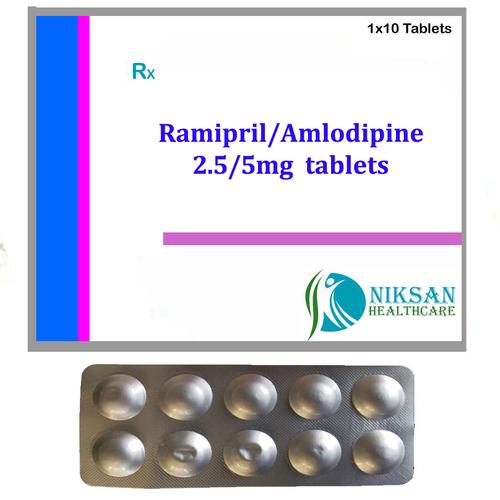 Ramipril 2.5Mg Amlodipine 5Mg Tablets