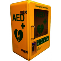 Yellow AED Cabinet