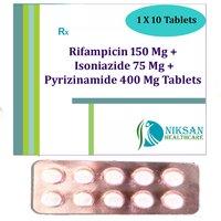 Rifampicin 150 Mg Isoniazide 75 Mg Pyrizinamide Tablets