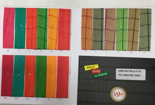 PC Vichitra Chex Saree Fabric