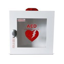 Medical White AED Cabinet