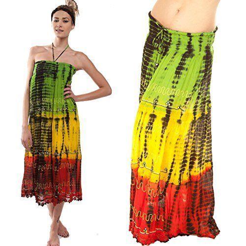 Rasta Tie Dye Pareos Dress