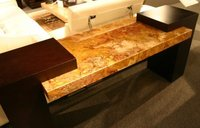 crystal clear table top wooden resin glossy finish
