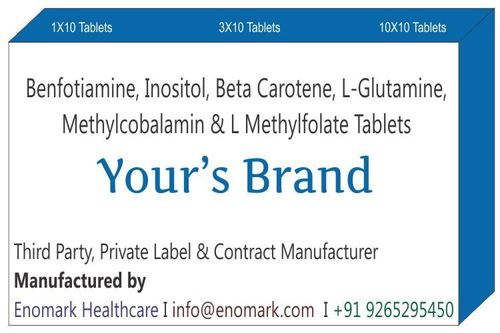 Benfotiamine Inositol Beta carotene L-Glutamine Methylcobalamin L methylfolate Tablets