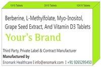 Berberine L-methylfolate Myo-inositol Grape Seed Extract And Vitamin D3 Tablets